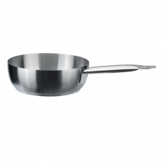 Stainless Steel Curved Saute Pan, Chef Collection, 16cm