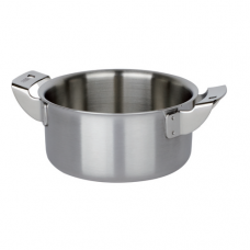 Stainless Steel Deep Cook Pot, 3-Ply, 0.4L