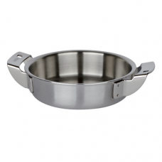 Stainless Steel Frying Pan with 2-Handle, 3-Ply, 10cm