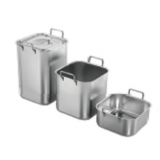 """Stainless Steel """"ABC"""" Bain Marie with Handle Cover, 15.5 x 15.5"""