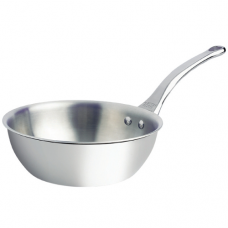 """AFFINITY"" Rounded Stainless Steel Saute Pan, 1.7L"
