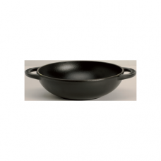 Cast Iron Chinese Wok with 2-Handle, Flat Base Induction, 18cm