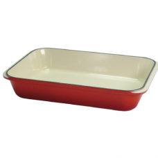 Rectangular Cast Iron Gratin / Baking Dish with Narrow Handle, 2.0L