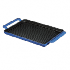"Rectangle Cast Iron ""LINED"" Grill Pan with 2-Handle"