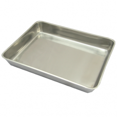Economy Stainless Steel Pan, 25 x 19 x 5