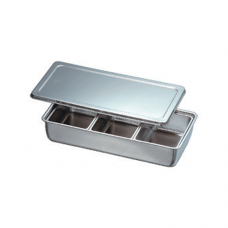 Stainless Steel Condiment Container, 3 comp