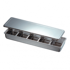 Stainless Steel Condiment Container, 5 comp