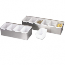 Plastic Insert Condiment Box with Hinge Lid, 3 comp