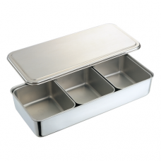 Stainless Steel Condiment Box, 3 comp