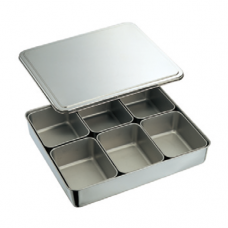 Stainless Steel Condiment Box, 6 comp