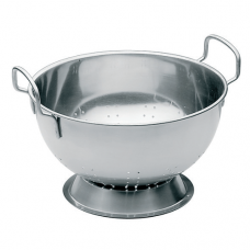 Stainless Steel Round Colander with Base, 12L