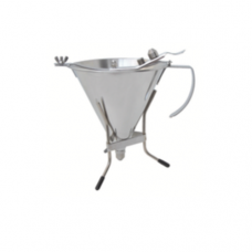 Stainless Steel Automatic Piston Funnel & Stand, 1.5L