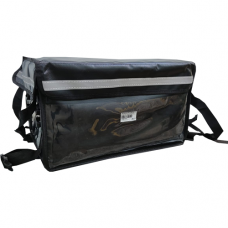 3 IN 1 PVC Insulated Hand Carry Delivery Bag, W/Parting Board, Black, Inter, L40:xW28:xH:22cm