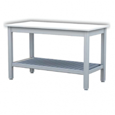 Aluminium Working Tables with Lower Shelf