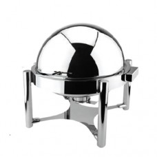 Deluxe Buffer Hinged Roll Top  Round Chafing Dish, Metro