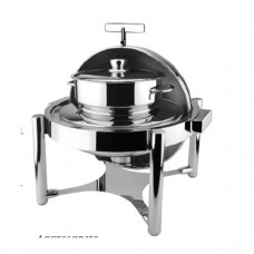 Deluxe Buffer Hinged Roll Top  Round Soup Station, Metro