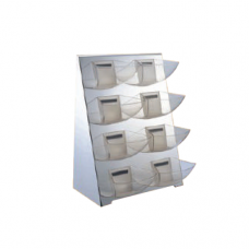 2 x 4 Tier Condiment Stand with Polycarbonate Holder, 22 x 23 x 59cm