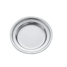 18/10 Stainless Steel Serving Tray, Round, 12.5cm