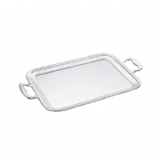18/10 Stainless Steel Serving Tray, Rectangular with Handle, 40 x 32