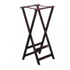 """Wooden Service Tray Stand, Black, 50 x 46 x 79.5cm"""""""
