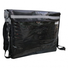 3 IN 1 PVC Insulated Delivery Bag,  W/Parting Board,Black, Inter, L:42xW:27xH:35cm