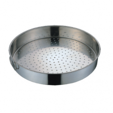 Stainless Steel Round Steam Rice Pan (Perforated), 17""