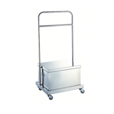 Stainless Steel Maltose Box with Wheel Rack (Set), 45.7cm