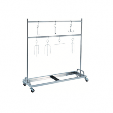 Stainless Steel Roasted Meat Rack Trolley, 150 x 150 x 158cm