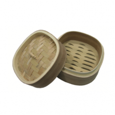 Square Deluxe Hokkien Wooden Steamer (Round Edge) Cover, 13cm