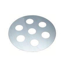 Stainless Steel Steam Plate, 1 hole
