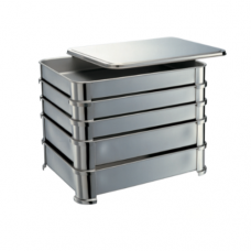 Stainless Steel Gyoza Container Cover, 34.5 x 27 x 1.4cm