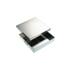 """Stainless Steel Square Container, 12 x 12 x 2.5"""""""