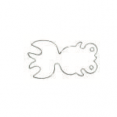 Stainless Steel Cutter, Gold Fish, 4 x 2cm