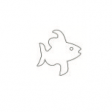 Stainless Steel Cutter, Angel Fish, 3.5 x 3.5cm