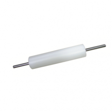 White Plastic Rolling Pin (Seal Stainless Steel Rod), 30cm