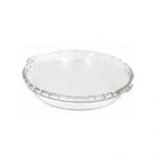 Fluted Pie Glass Plate, 24.6 x 4.1cm