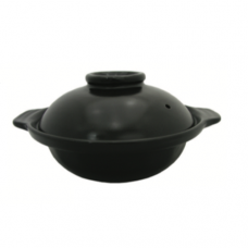 Black Deep Clay Pot, 16 x 5.5cm