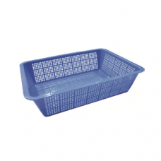 Rectangular Plastic Colander, 50 x 40 x 18cm, Large Hole