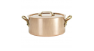 """Inocuivre """"VIP"""" Copper Stainless Steel Stew Pot with Cover, 5.2L"""