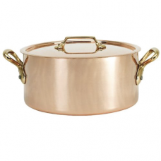 """Inocuivre """"VIP"""" Copper Stainless Steel Stew Pot with Cover, 1.6L"""