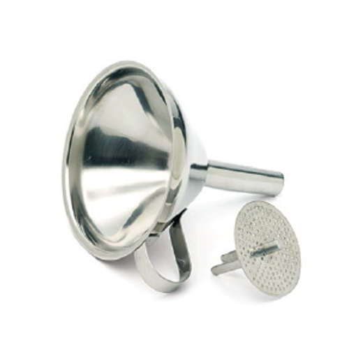 Stainless Steel Oil Funnel with Drainer, 12.7cm