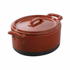 Cocotte w/ Lid, BELLE CUISINE, Pepper Red-13.5x12.2x8cm