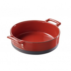 Deep Round Dish, BELLE CUISINE, Pepper Red-18.5x5.5cm