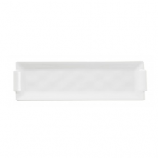 BOMBAY, Rectangular Tray, White, 26x11x1.5cm