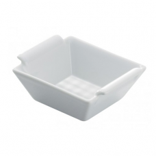 Square Creme Brulee Dish, BOMBAY, White-12x12x3cm