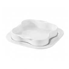 Tetraplate, COOK & PLAY, White-17x17cm