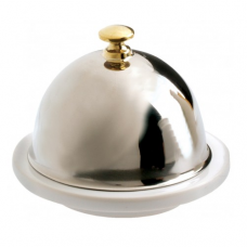 Butter Dish w/ S/S Lid, FRENCH CLASSIQUE, 9x7cm