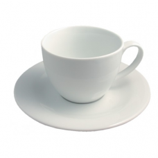 Breakfast Cup and Saucer Alaska, FRENCH CLASSIQUE, White-19.5x9.5cm