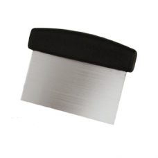 Stainless Steel Dough Scraper with Plastic Handle, 15.2 x 7cm