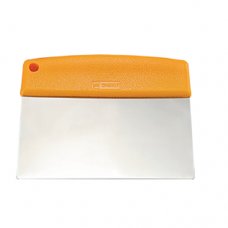 Stainless Steel Dough Cutter / Scraper With Plastic Handle, 11.6 x 13.0cm